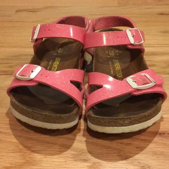 Girls Rio Birkenstock Pink Glitter size 13
